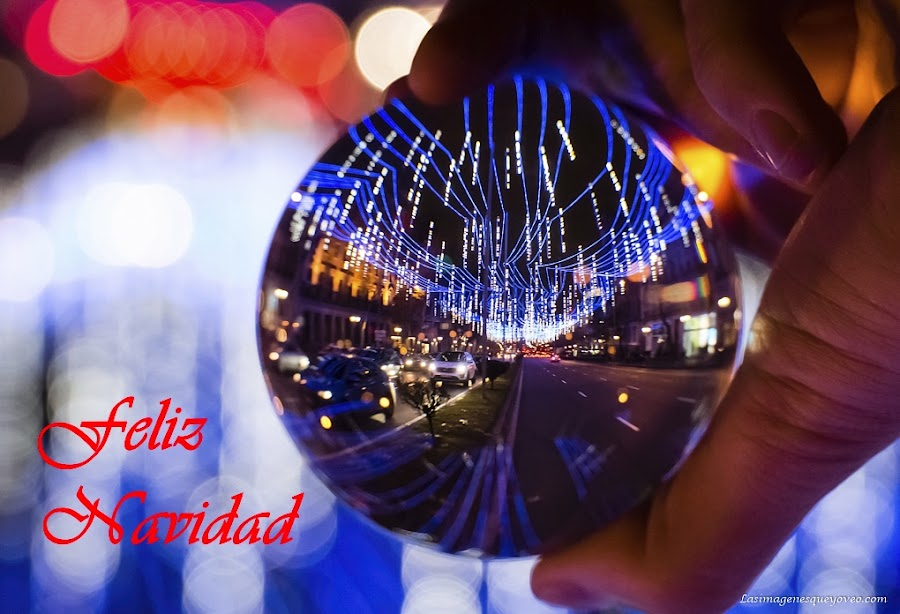 Navidad, Madrid, lensball, iluminación de navidad