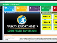 Aplikasi Raport K13 Kelas 1 , 2 , 3 , 4 , 5 dan 6 Semester 1 T.P 2018/2019