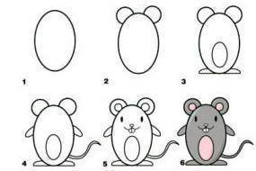 Learn to draw mouse for kids 1