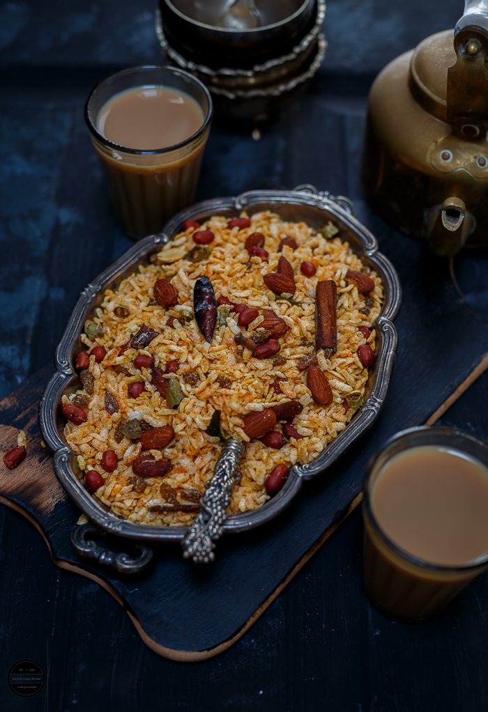 Poha Chevdo or Chivda is a very popular diwali snack which is savoury and prepared with beaten rice , nuts and basic spices.