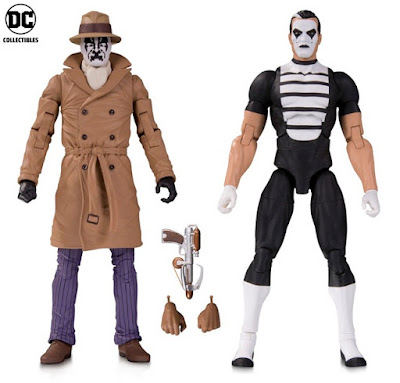 Doomsday Clock Watchmen Action Figure 2 Packs by DC Collectibles - Rorschach & Mime