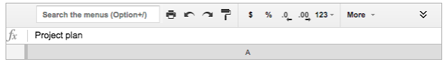 Searching menus in Compact Controls mode in Sheets