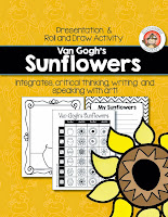 Van Gogh's Sunflower, Roll & Draw Activity from Expressive Monkey