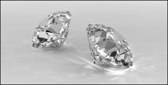 Photo Realistic Render of 3D Diamonds