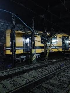 Descarrilamiento en las cocheras de la linea C