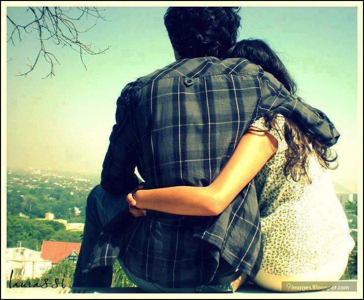 hug, couple, cute, love