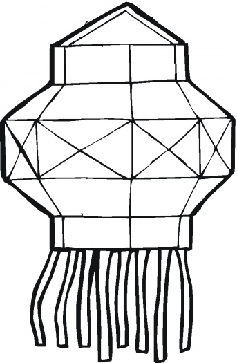 Chinese lantern coloring pages for Chinese lantern template printables