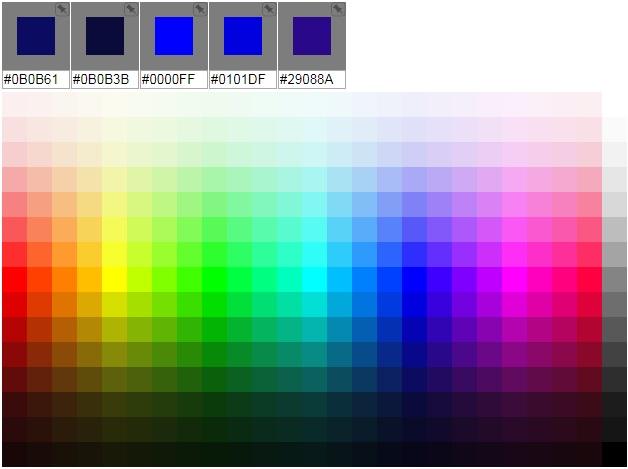 codigos colores html