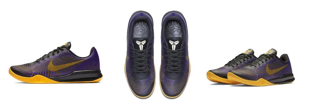 Sepatu Basket Nike Kobe Mentality 2 Lakers Original