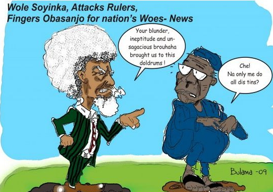 obasanjo soyinka cartoon