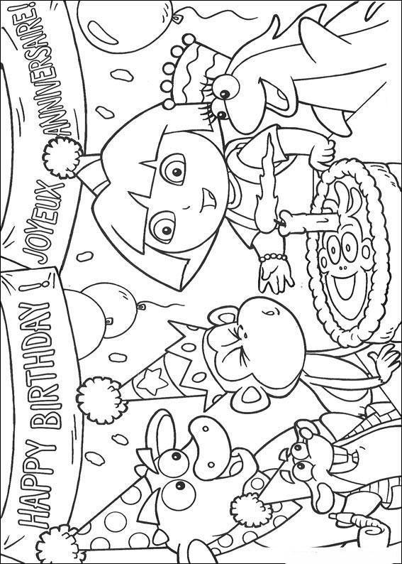 Coloriages Enfants: coloriage dora l'exploratrice gratuit à imprimer