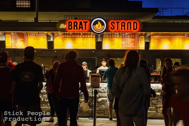 Brat Stand at University of Wisconsin Memorial Union Terrace - (c) Stick People Productions