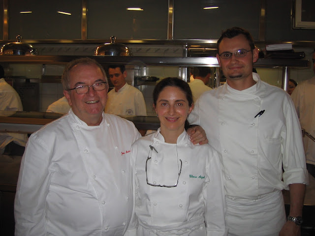 Kevin Cherkas with Juan Mari and Elena Arzak