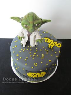 star wars cake yoda