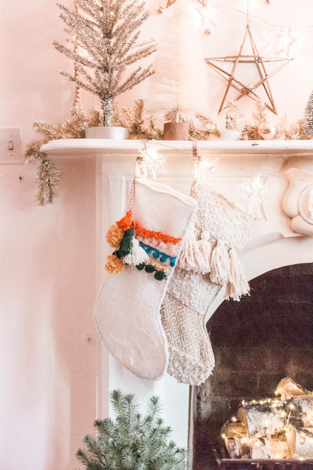 Christmas Stockings Diy.Diy Boho Christmas Stocking
