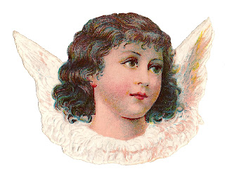 angel vintage clipart digital illustration download