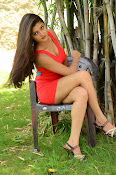 Poojitha sizzling in red dress-thumbnail-18
