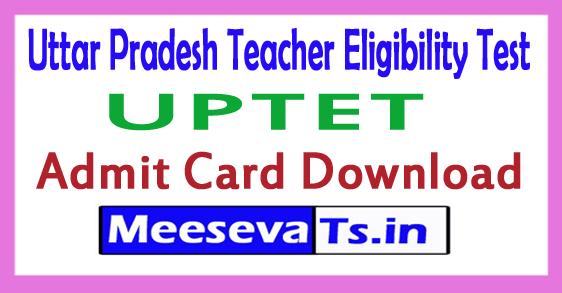 Uttar Pradesh Teacher Eligibility Test Admit Card 2017 Download Uttar Pradesh TET Hall Ticket