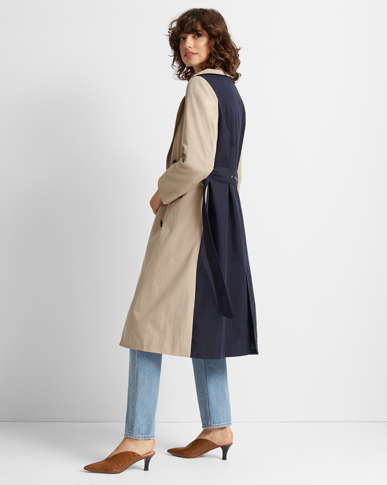 This Colorblock Trench Coat Makes Quite the Statement