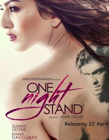 Poster Of One Night Stand 2016 Hindi 700MB DVDScr x264 Watch Online Free Download Worldfree4u
