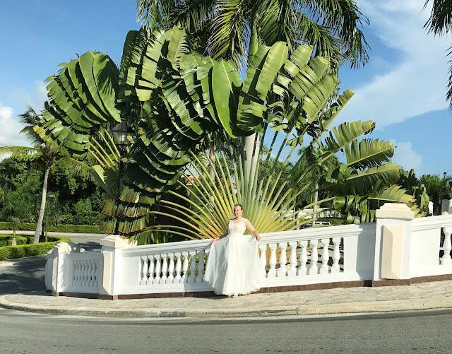 dominikana sesja poślubna, hotel, palma podróżnika, panna młoda