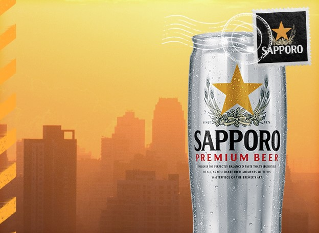 Sapporo Beer wants you to enter daily for a chance to win a vacation to one of three fabulous mystery locations, either a beach trip, a city trip of a snow trip!