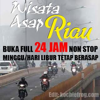 DP BBM Wisata Asap Riau Buka 24 Jam Lucu Gokil Sindiran