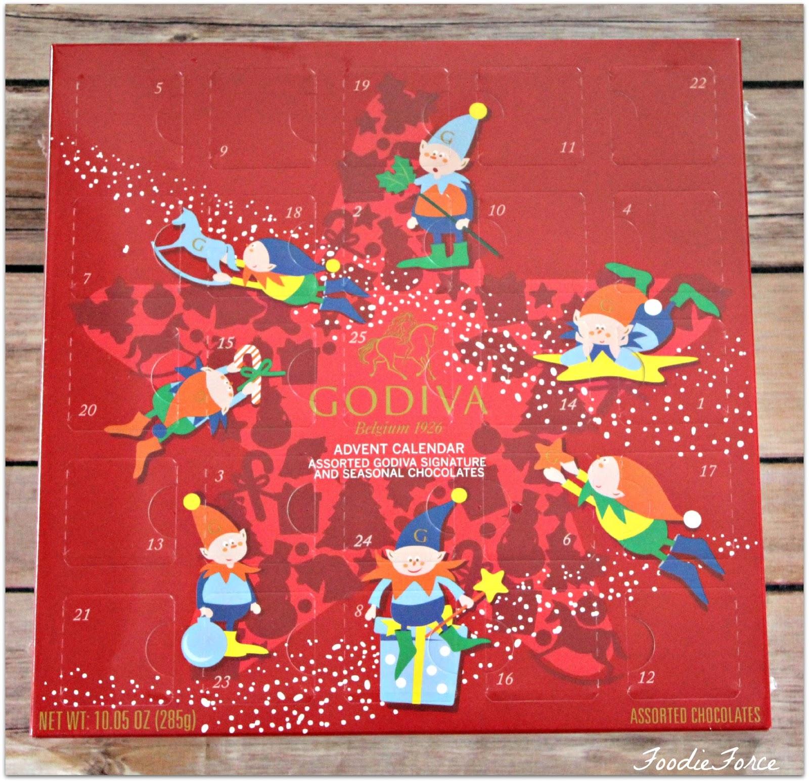 Godiva Advent Calendar.Foodie Force Top Christmas Advent Calendars 2015
