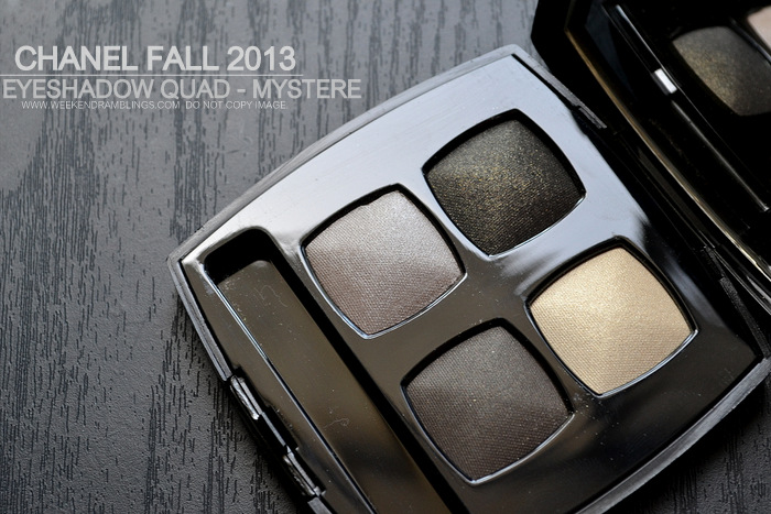 Chanel Fall 2013 Superstition Makeup Collection Les 4 Ombres Quadra Eyeshadow Mystere Photos Swatches Indian Darker Skin Beauty Blog