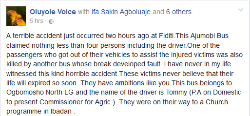 HEARTBREAKING DETAILS OF HOW PASSENGERS DIED IN FATAL ACCIDENT INVOLVING APC BUS IN OYO (PHOTOS)