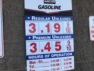 Costco gas for March 25, 2018 at Redwood City, CA