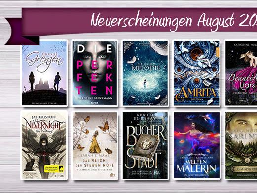 [NEUERSCHEINUNGEN] 17 neue Jugendbücher im August 2017