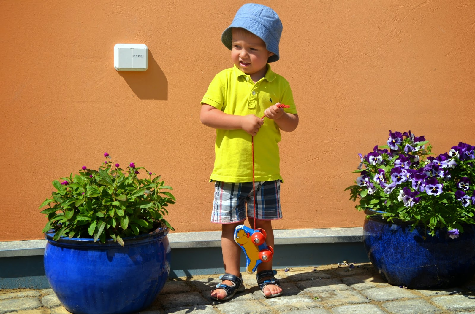 toddler hat polo shirt shorts