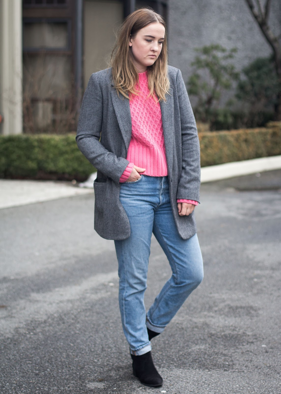 Adding colour to your wardrobe - Acne Studios knit - Vancouver Fashion Blogger