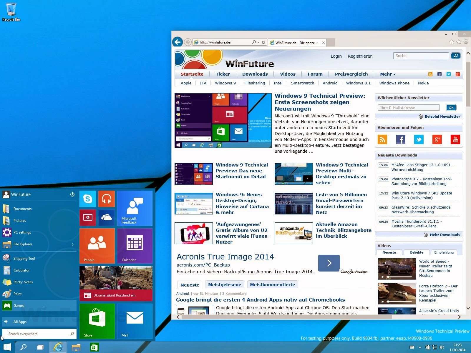 Preview build for windows 10