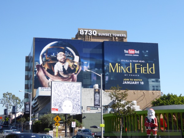Giant Mind Field YouTube Red series billboard