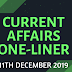 Current Affairs One-Liner: 11th December 2019