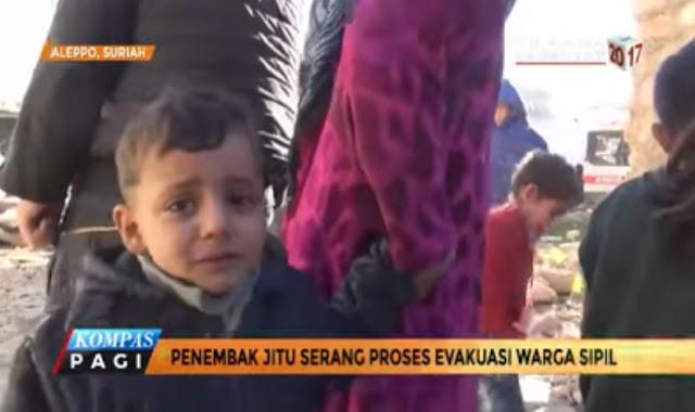 Video: Bukti Milisi Syiah Tembaki Warga Sipil Aleppo yang Sedang di Evakuasi
