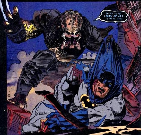 Un Predator casi mata a Batman
