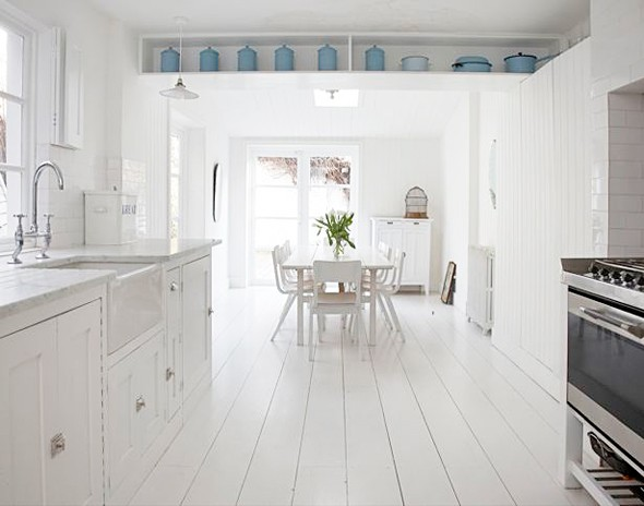 Painted White Floorboards Shabby Chic Style 2012 | I Heart ...
