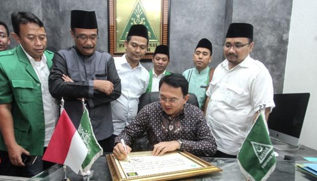 Didukung GP Ansor, Ahok: Dari Dulu Gus Dur Dukung Saya