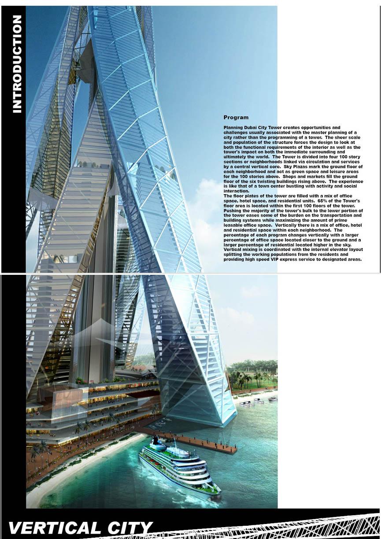Architecture Corner Vertical City Dubai