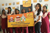 Actress Priya Anand in T Shirt with Students of Shiksha Movement Events 34.jpg
