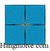 Bước 10: Làm tương tự cho các cạnh còn lại ta sẽ có hình vuông phía dưới.