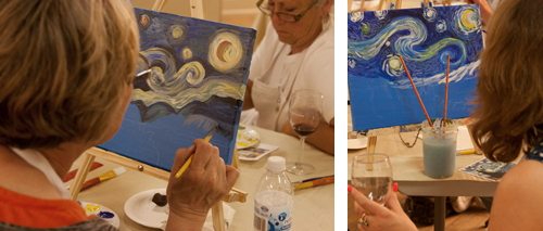 Painting Evening Classes, Paint and Wine, Atascadero