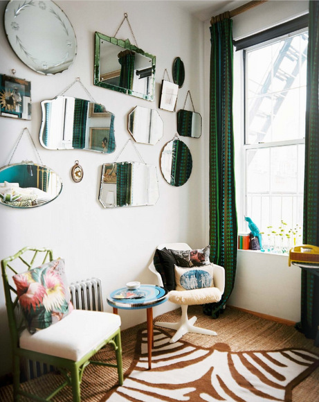 Assorted hanging mirrors