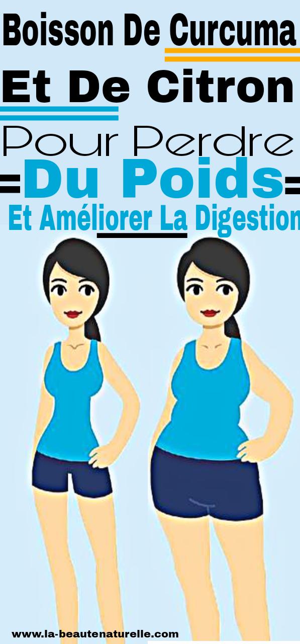 Boisson de curcuma et de citron pour perdre du poids et améliorer la digestion