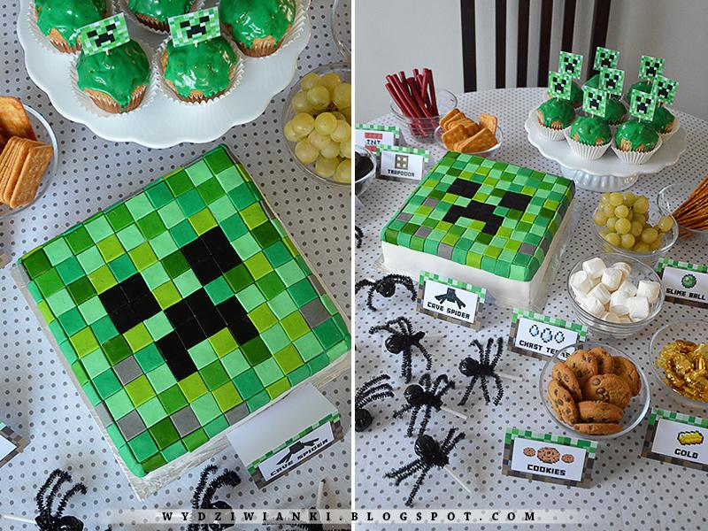 Wydziwianki Rudej Urodziny W Stylu Minecraft Zaproszenia I
