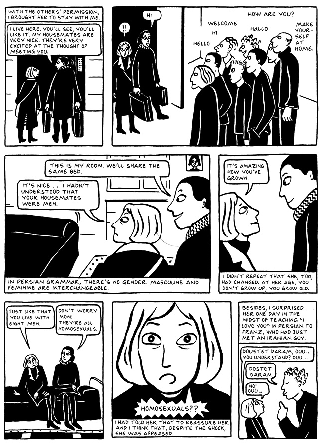 Read Chapter 6 - The Horse, page 47, from Marjane Satrapi's Persepolis 2 - The Story of a Return