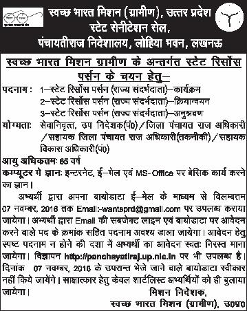 UP Zila Panchayati Raj Recruitment 2018 1953 Group C
